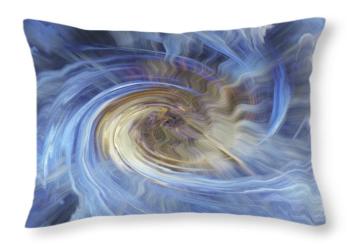 Shell Ice Throw Pillow featuring the digital art In The Beginning by Bill Morgenstern
