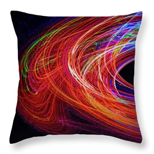 Digital Throw Pillow featuring the digital art In The Beginning-left by Michael Durst
