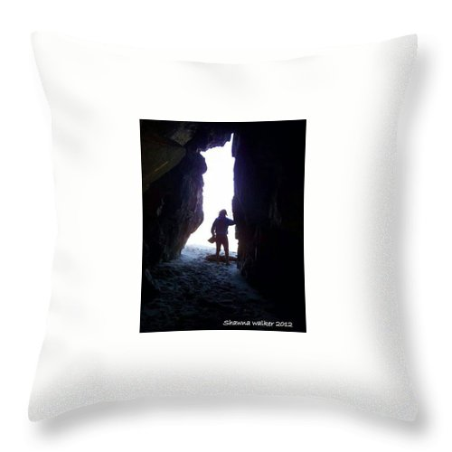 Photography Throw Pillow featuring the photograph In The Cave by Shawna Walker