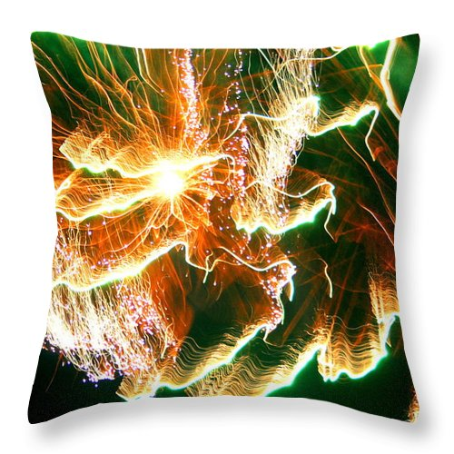 Abstract Throw Pillow featuring the photograph In The Depths Of An Interstellar Sea by David Dunham