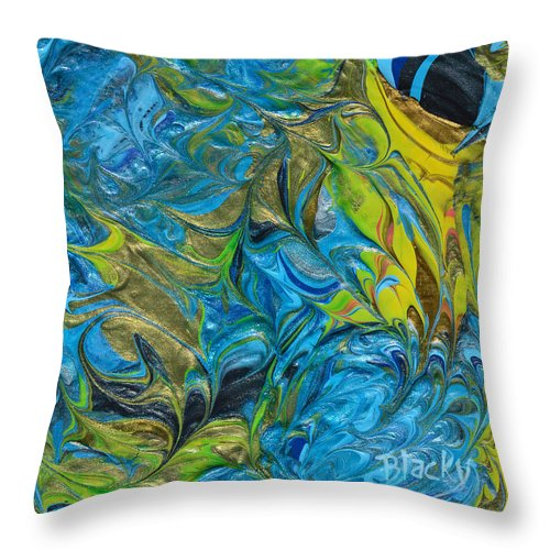Modern Throw Pillow featuring the painting In The Face Of Adversity by Donna Blackhall
