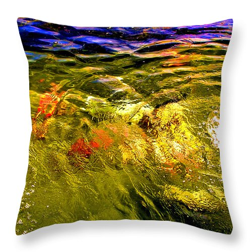 Wave Throw Pillow featuring the photograph In The Flow 2 by Michael Durst