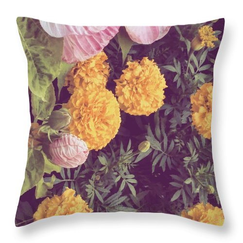 Flower Throw Pillow featuring the photograph In The Garden by Aly Robinson