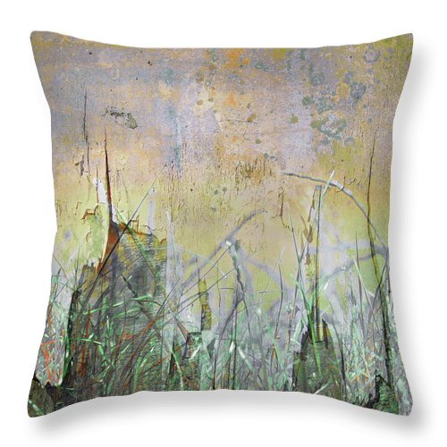 Texture Throw Pillow featuring the photograph In The Grass by Hal Halli