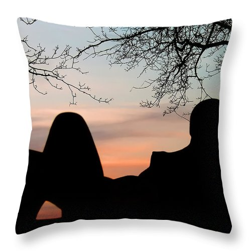 Woman Throw Pillow featuring the photograph In The Morning by Joachim G Pinkawa