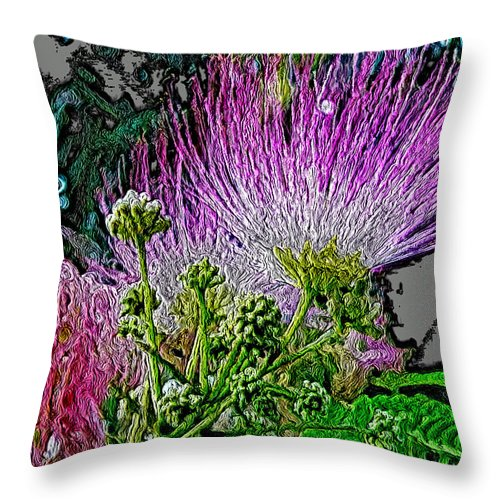 Pink Throw Pillow featuring the photograph In The Pink by Dee Flouton