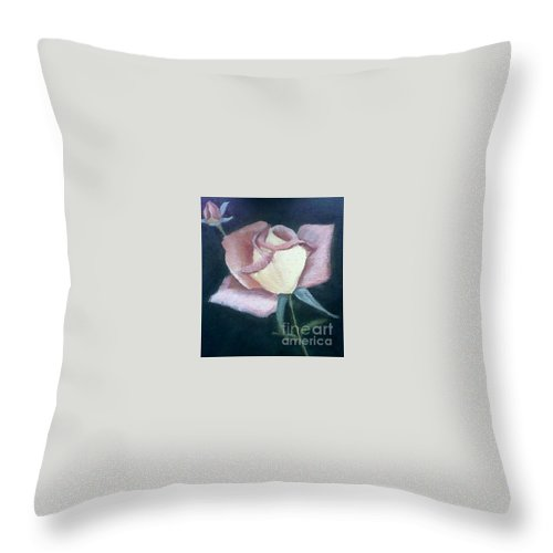 Roses Throw Pillow featuring the painting In The Pink by Joanne Dour