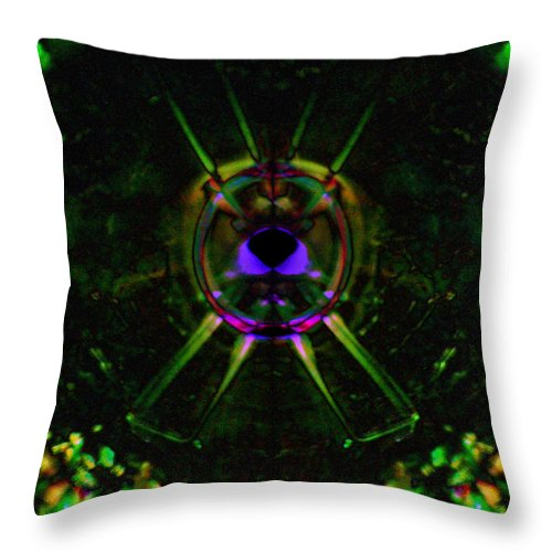 In The Presence Of The Divine Throw Pillow featuring the photograph In The Presence Of The Divine by Darin Baker