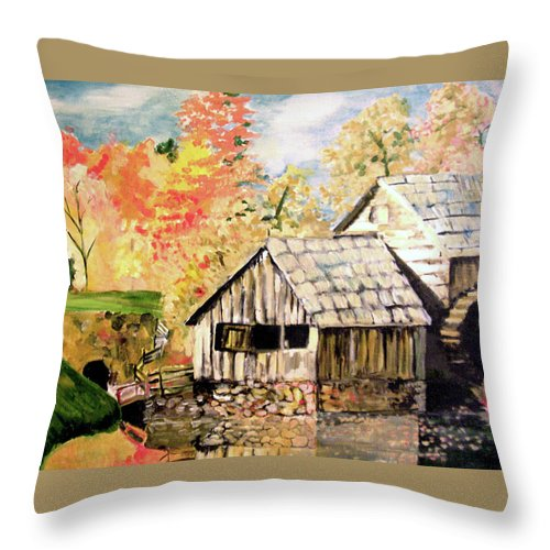 In The Quiet Moments Throw Pillow featuring the painting In The Quiet Moments by Seth Weaver