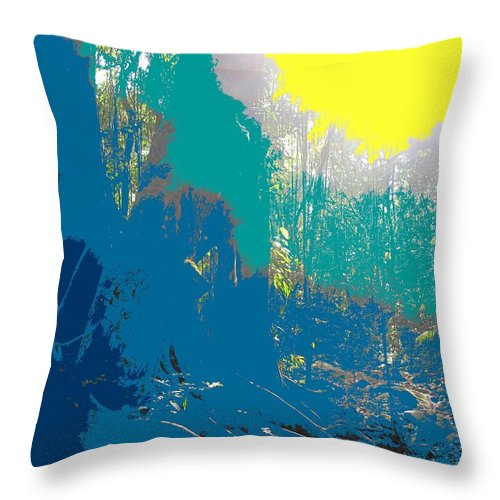 Rainforest Throw Pillow featuring the photograph In The Rainforest by Ian MacDonald