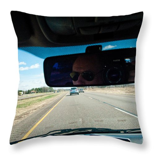 Driving Throw Pillow featuring the photograph In The Road 2 by Steven Dunn