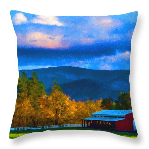 Photo Art Throw Pillow featuring the photograph In The Rogue Valley by Mick Anderson
