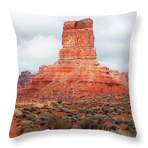 Valley Throw Pillow featuring the photograph In The Valley Of The Gods by Nicholas Blackwell