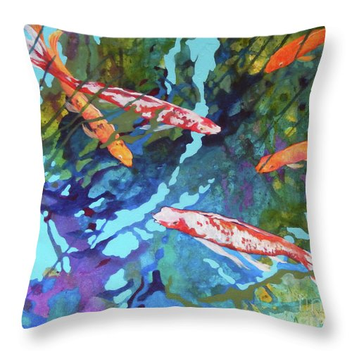 Top Artist Throw Pillow featuring the painting In The Weeds by Sharon Nelson-Bianco
