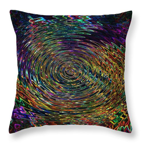 Abstract Throw Pillow featuring the digital art In The Whirl Of Light by Iliyan Bozhanov