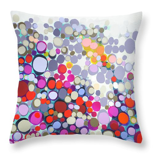 Abstract Throw Pillow featuring the painting In The Winter by Claire Desjardins