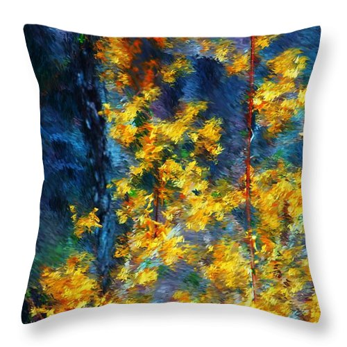Nature Throw Pillow featuring the photograph In The Woods Again by David Lane