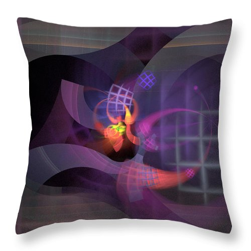 Graceful Throw Pillow featuring the digital art In The Year Of The Tiger - Fractal Art by Nirvana Blues
