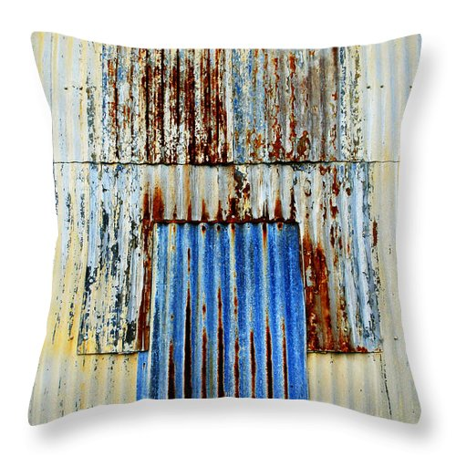 Skip Hunt Throw Pillow featuring the photograph In Through The Out Door by Skip Hunt