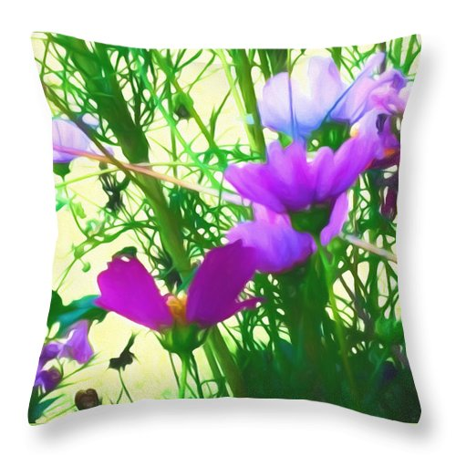 Summer Throw Pillow featuring the mixed media In Time For Summer by Debra Lynch