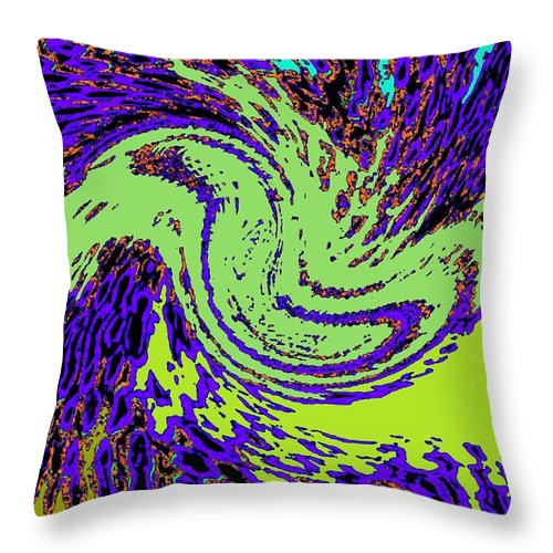 Coral Reefs Throw Pillow featuring the digital art In Transition by Will Borden