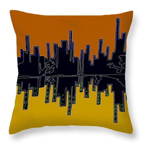 Se-metric Throw Pillow featuring the digital art In Uniform by Christopher Rowlands