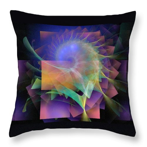 Abstract Throw Pillow featuring the digital art In What Far Place by NirvanaBlues