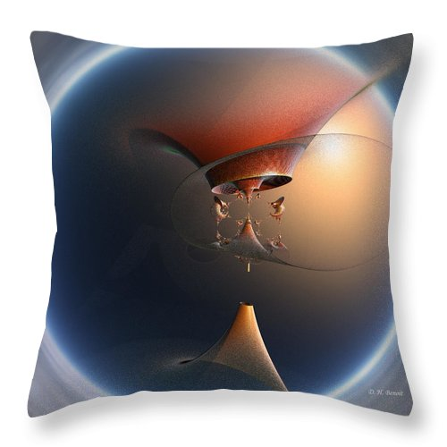 Fractal Throw Pillow featuring the digital art In Your Dreams by Deborah Benoit