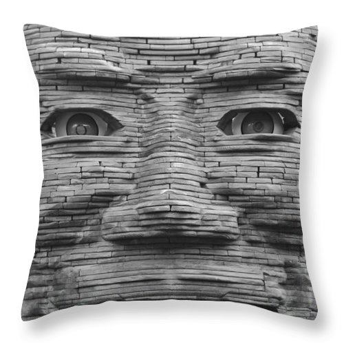 Architecture Throw Pillow featuring the photograph In Your Face by Rob Hans