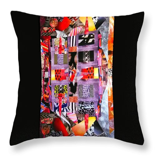 Throw Pillow featuring the mixed media Inbox by Mark Calderon