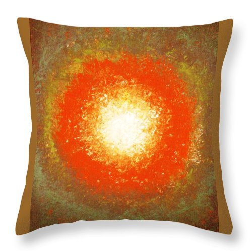 Original Throw Pillow featuring the painting Inception by Todd Hoover