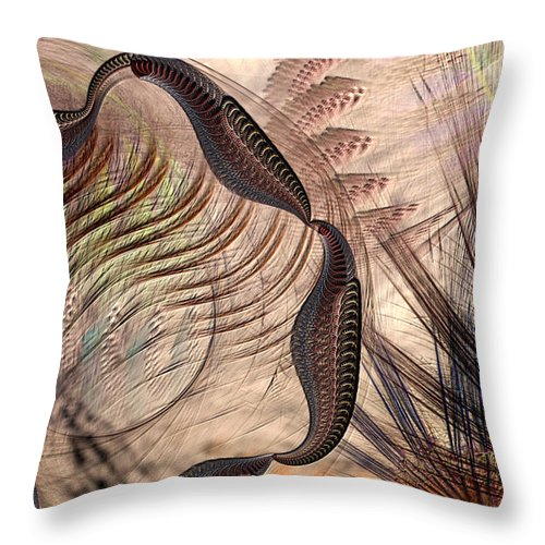 Abstract Throw Pillow featuring the digital art Incomprehension by Casey Kotas