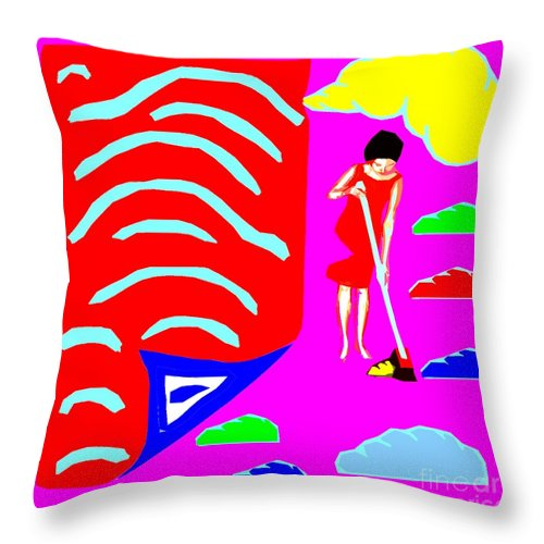 Truth Throw Pillow featuring the painting Inconvenient Truths by Patrick J Murphy