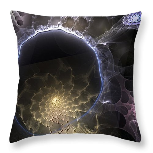 Abstract Throw Pillow featuring the digital art Indefinable Expressions by Casey Kotas