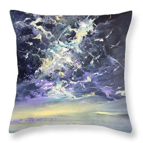 Seascape Throw Pillow featuring the painting Independence Day I by Lex Halakan
