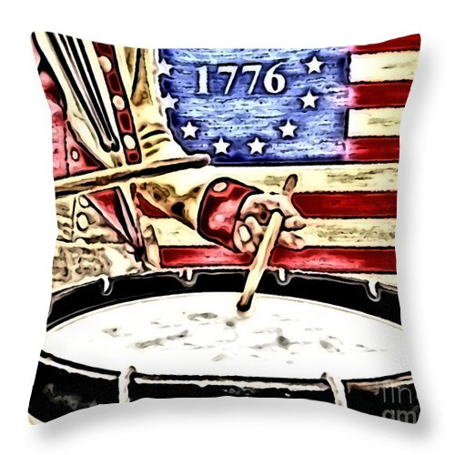 1776 Throw Pillow featuring the digital art Independence by Thomas OGrady