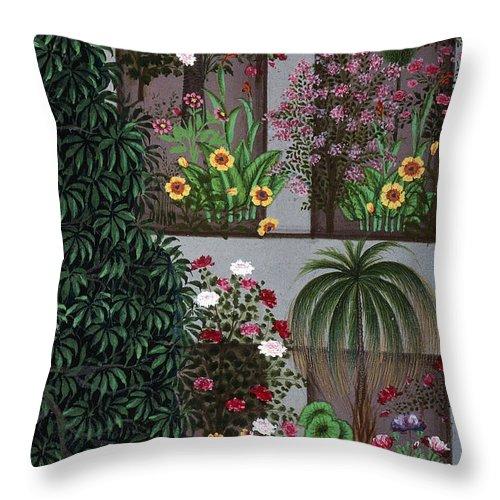 Aod Throw Pillow featuring the photograph India: Garden by Granger