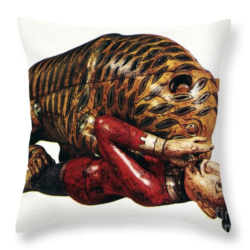 18th Century Throw Pillow featuring the photograph India: Tiger Attack by Granger