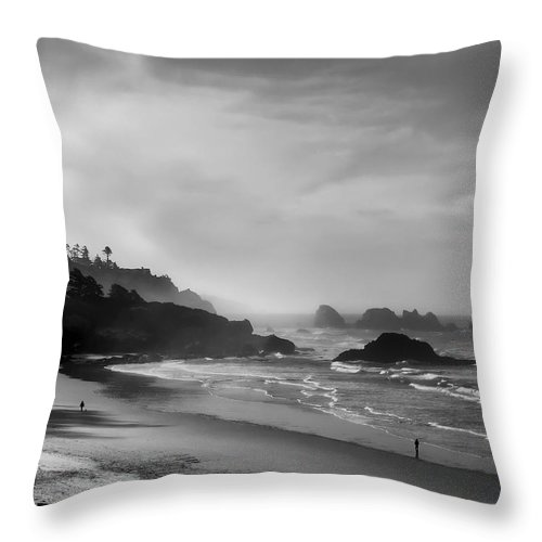 oregon Coast Throw Pillow featuring the photograph Indian Point Beach - Oregon Coast by Daniel Hagerman