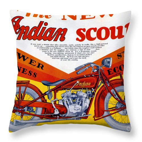 Indian Throw Pillow featuring the digital art Indian Scout by Steven Parker