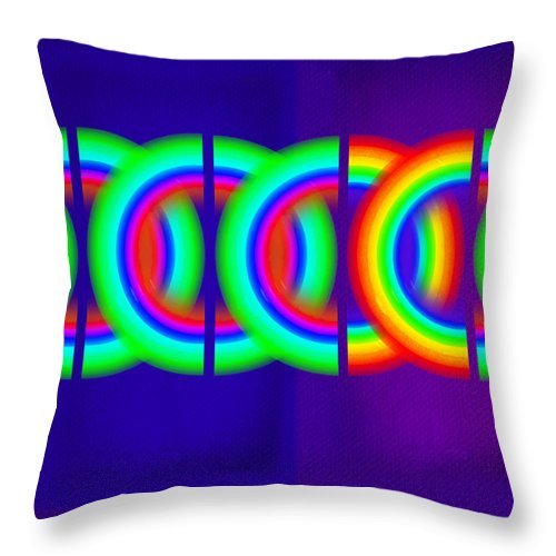 Abstract Throw Pillow featuring the painting Indigo Violet by Charles Stuart