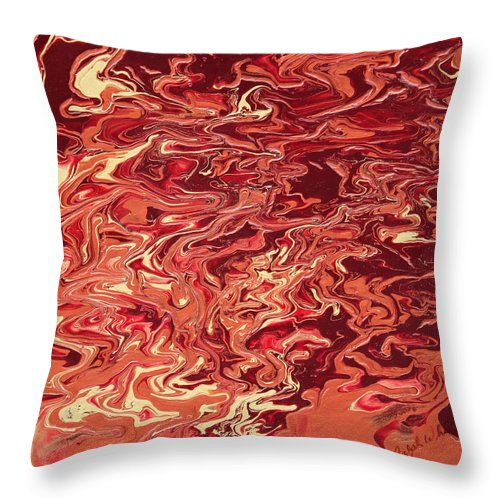 Fusionart Throw Pillow featuring the painting Indulgence by Ralph White