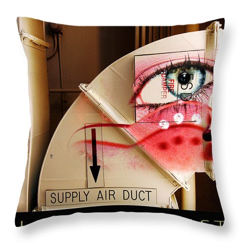 Throw Pillow featuring the photograph Industrial Ceiling Dreams by Clayton Bruster