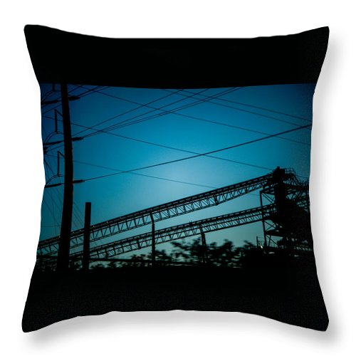 Nature Throw Pillow featuring the photograph Industrial by Keegan Hall