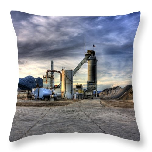 Industrial Landscape Throw Pillow featuring the photograph Industrial Landscape Study Number 1 by Lee Santa