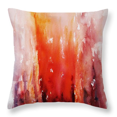 Landscape Throw Pillow featuring the painting Inferno by Rachel Christine Nowicki