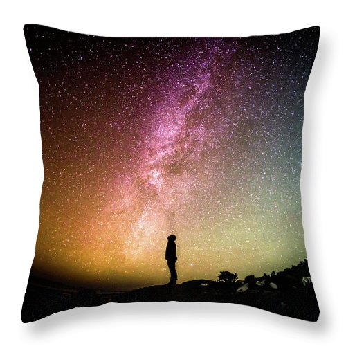 Sky Throw Pillow featuring the photograph Infinite Possibilities by Happy Home Artistry