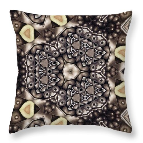 Kaleidoscope Throw Pillow featuring the mixed media Infinite Torus by Laurie's Intuitive