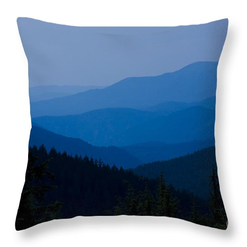 Mountain Throw Pillow featuring the photograph Infinity by Idaho Scenic Images Linda Lantzy