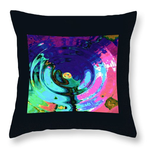 Blue Throw Pillow featuring the digital art Infinity by Natalie Holland